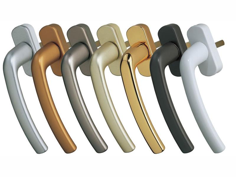 Ручки для пластиковых окон цвета
