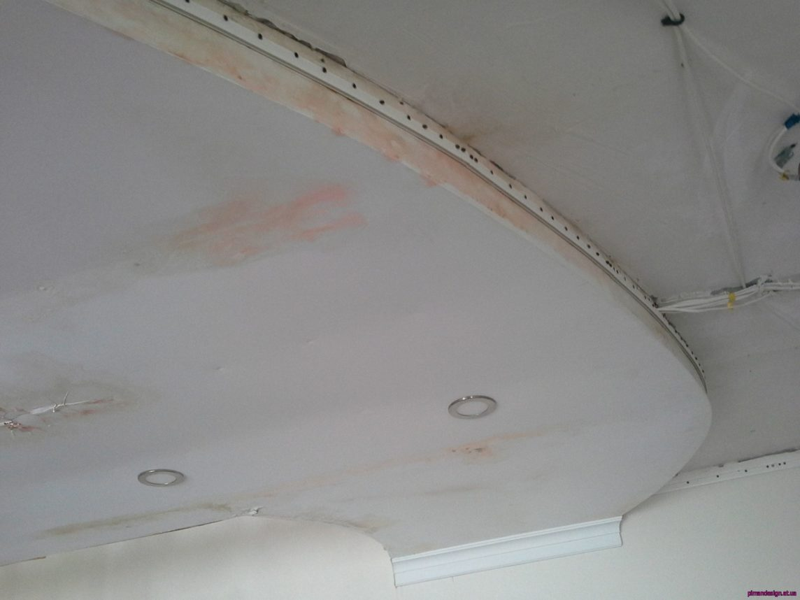 Пятна на потолке после затопления: как удалить