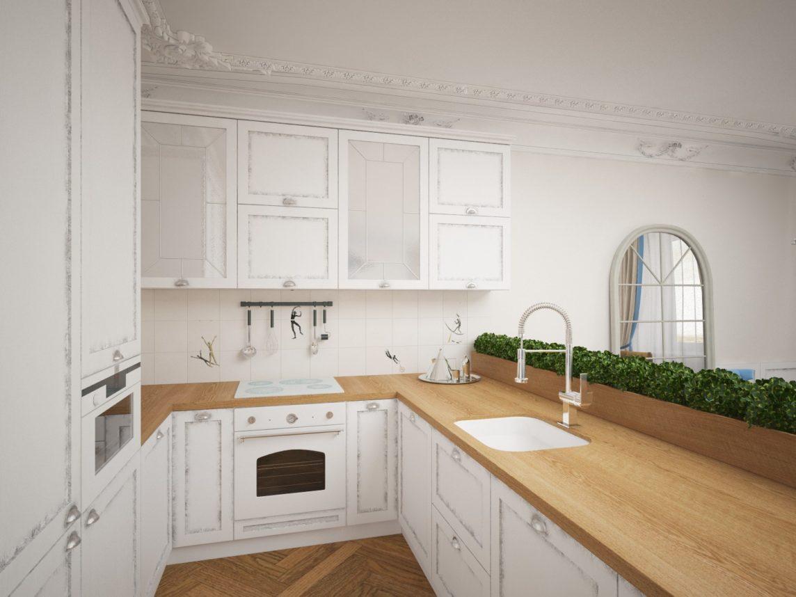 Деревянная кухня - классика и комфорт